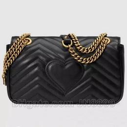 Sıcak Satış Moda Kadınlar Omuz Çantaları Klasik Deri Kalp Tarzı Altın Zincir Yeni Kadın Çanta Çanta Bez Çanta Messenger Çanta nereden toptan kelebek baskılı el çantaları tedarikçiler