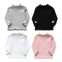 Wholesale Sweater Korean Girl - Baby Girl Sweater Baby Girl Clothes Fashion Korean Cotton Long-Sleeved Children's Girls Primer Shirt Tops Clothes