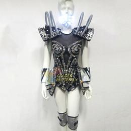 2019 ropa robot LED Robot Ropa Luminosa Vestido Brillante Danza Robot Luz LED Disfraces Halloween Mardi Gras Carnaval ciencia ficción película ropa robot baratos