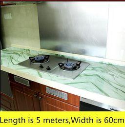 Wholesale Renovation Kitchen - Kitchen imitation marble countertop wallpaper high temperature waterproof self-adhesive renovation wallpaper 5 meters-161