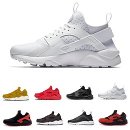 huaraches sneakers women Coupons - Huarache 4.0 1.0 Classical Triple White Black red mens women Huaraches Shoes Huaraches sports Sneakers Running spikes track Shoes