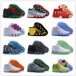 Wholesale Orange Fabric Flowers - 2018 Kyrie Irving 4 Multicolor BHM South Coast Flowers Basketball Shoes for High quality Kyrie4 4s Bruce Lee Sports Sneakers Size 40-46