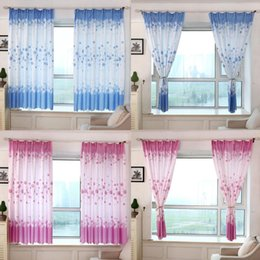 Wholesale Fabric Sheers - Wholesale-Taotown's 200 *100 cmPastoral Romance Print Sheer Window Curtains For Living Room Bedroom freeshipping