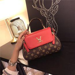 Wholesale Red Flower Purse - 2017 Women Messenger Bags Shoulder Bag Falabellas Handbag Small PU Leather Purse Strap Luxury Brand Fold Over Bolsos