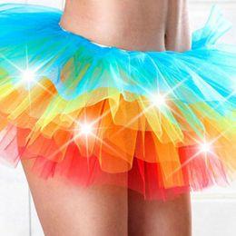 Wholesale Bubbles Show - Wholesale- LED Light Up Lighting Pettiskirt Bubble Skirt Kilt Mini Tutu Stage Show