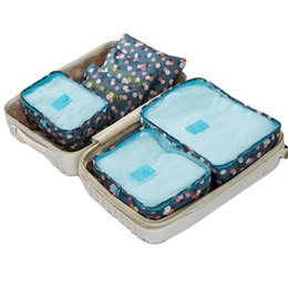 6шт/set высокое качество ткань Оксфорд путешествия сетка мешок в сумка багажа организатор упаковка куб организатор для одежды от Поставщики сумки для организаторов путешествий