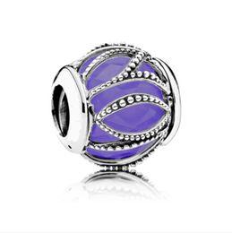 Emaille Runde Perlen Elegant Milchig Weiß Blau Europäischen Silber Charms für DIY Fit Pandora Armbänder Schmuck 925 Armreifen Verkäufe Mädchen Freunde von Fabrikanten