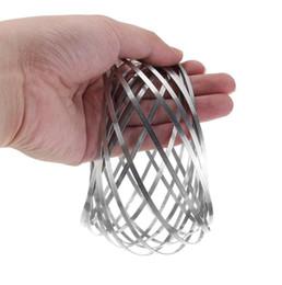 Wholesale slinky wholesale - Toroflux Flow Rings Spring 3D Metal Toy Ring Flow Flowtoys Arm Slinky Outdoor Hand Spinner 30pcs OOA4718