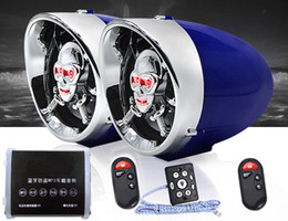 Wholesale Motorcycle Stereo Mp3 - 2.5 inch Motorcycle Bluetooth Stereo Amplifier Anti-theft Alarm Speaker Car Hi-Fi Sound MP3 FM Radio USB Phone Charge