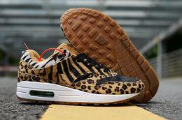 Argentina 2018 venta caliente 1 DLX ATMOS leopardo grano amarillo negro rojo zapatillas para mujeres de alta calidad zapatillas para hombre 1s zapatillas de deporte Size40-45 cheap hot running shoes Suministro