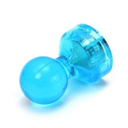 Frigoríficos azules online-24pcs imanes magnéticos azules de los pernos del empuje para los tableros y el mapa blancos de los calendarios del refrigerador
