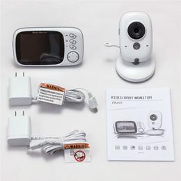 2018 résolution vidéo 3.2 pouces sans fil vidéo couleur bébé moniteur haute résolution bébé nounou sécurité caméra vision nocturne surveillance de la température résolution vidéo pas cher