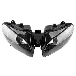 Wholesale Motorcycle Headlight Yamaha - New Motorcycle Front Headlight Head Lamp Assembly For Yamaha YZF R1 2000 2001 Lighting Replacement