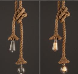 Maglia a sospensione online-Lampada a sospensione Retro Vintage lampada a sospensione a mano a mano Loft Loft lampada personalità creativa lampada a LED Edison American Style A792