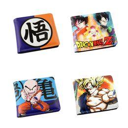 Wholesale Japanese Wallets Women - 2018 New Fashion Dragon Ball Z Wallet Japanese Anime Son Goku Genki Dama Shenron Short Purse For Men Women of Money Bag