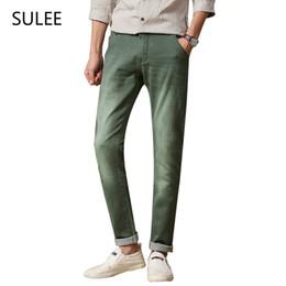 Wholesale Jeans 31 38 Man - Wholesale-SULEE Mens 6 Colors Stretch Denim Jeans for Men Slim Wash White Jean Pants Trousers Man 30 31 32 33 34 36 38 Mens Jeans