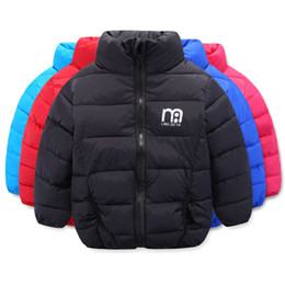 Wholesale blue turtle kids - Boys & Girls Winter Autumn Warm Down Coat Turtle Neck Down Jacket Lightweight Overcoat for Kids Baby Children Clothes Clothing