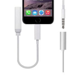 Conectores de luz online-Alta calidad Auriculares auriculares convertidor de cable de iluminación del cable a 3.5 mm Audio Aux conector del adaptador de cable para iPhone7 plus