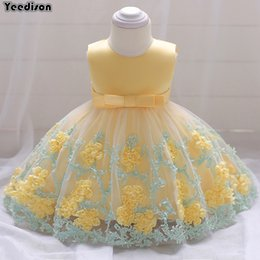 fbd3c45580c3 Flower Newborn Baby Girl Dress Princess Party And Wedding Dresses  Christening Gown For Baby Girl 1 Year Birthday Infant Outfits Y18102007