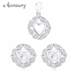 Серебряные ювелирные изделия dubai онлайн-Moonmory Sterling Silver Bijoux Dubai en or Earring Pendants Necklace pave Earrings  Jewelry Set Ethiopian Jewelry