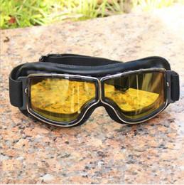 Capacete de motocicleta de jato aberto on-line-Barato Halley Óculos de Proteção Da Motocicleta Óculos de Ciclismo Meia Face Capacetes Óculos de Proteção Retro Jato Aberto Face Capacete Eyewear jogo de guerra óculos de sol ao ar livre