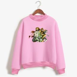 2019 sudaderas rosa Hunter x Hunter sudadera mujer Pink Fashion mujer sudaderas con capucha Sudaderas Kawaii sudadera de invierno 4XL Anime sudaderas rosa baratos