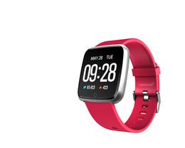 Canada monobloc Y7 imperméable Bracelet de remise en forme de la fréquence cardiaque Tension artérielle avec des messages d'appel télécommande intelligente montre pour AndroidIOS Offre