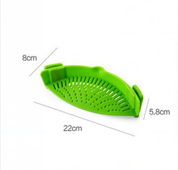 Wholesale Rice Pot - Silicone Multifunction Funnel Strainer Pot Pan Bowl Baking Wash Rice Colander Kitchen Accessories Gadgets kitchen accessory