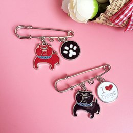 Wholesale Friends Sweater - Wholesale- Fashion jewelry dachshunds poodle dogs Charm brooches wholesale DIY sweater badge Brooch Pins FOR girl woman gift best friends