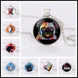 sunglasses white glass circle Australia - Cute Dog, Naughty Dog, Sunglasses Dog Pet Jewelry Necklace Jewelry Accessories, Fashion Round Glass Necklace Time Gem Children Gift