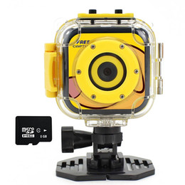 Wholesale Video Card Images - Kids Camera Waterproof Digital Video HD Action 1080P Sports Camera Camcorder DV for Boys Girls Birthday Holiday Gift Learn Camera Toy 1.77''