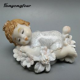 3D fada da flor molde de silicone molde fondant bolo resina gesso chocolate vela doces molde frete grátis de