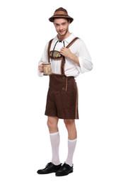 Adulti Oktoberfest Costumi Vendita calda Uomini Donne Festival tedesco della birra Cosplay Plus Size M-2XL Disfraces Adultos 3 Set cheap men beer costume da costume della birra degli uomini fornitori
