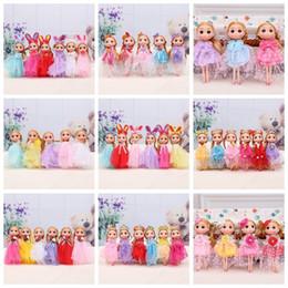 Wholesale mini ddung dolls - Hot selling Cute Wedding Dress Ddung Doll Keychain Pendant Fashion Popular 18CM Gum Dolls Girl Toys good Christmas gifts for girl Plush Toys