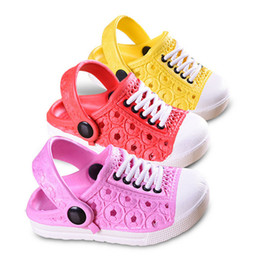 Wholesale baby girls slippers - Unisex Children Clogs Sandals Beach Slippers Kids Unisex Baby Boys Clogs Shoes Girls Sandals Garden Sneakers Design Slippers Drag