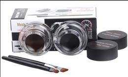 Wholesale Eyebrow Powders - New Music Flower Makeup Eyeliner Gel & Eyebrow Powder Palette Waterproof Lasting Smudgeproof Cosmetics Eye Brow Enhancers