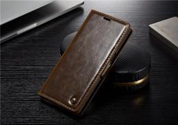 CaseMe Марка PU кожаный чехол для Samsung Note 4 5 8 9 S4 S5 MINI S6 S7 КРАЙ S8 S9 PLUS A3 A5 A7 A310 A510 A710 2016 Magneti Flip Phone Cover от