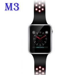 Яблоко сенсорный экран смотреть дети онлайн-M3 смарт наручные часы Smartwatch с MTK6261A CPU 1.54 дюймовый ЖК-OGS емкостный сенсорный экран слот для SIM-карты камеры для apple PK DZ09 часы