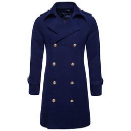 Primavera nuova Corea del Sud uomo lana grande bavero doppio petto cappotto di trincea sottile mens cappotti outwear da