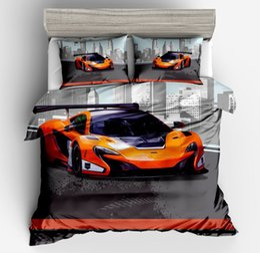 Ropa de cama queen online-DeMissir 3D Car Print Duvet Cover 3pcs Set King Queen Full Twin Size edredón cubre juego de cama edredones conjuntos de ropa de cama