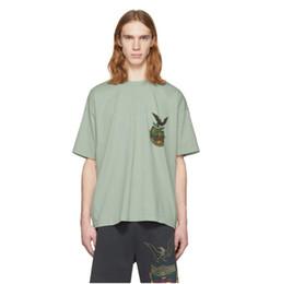орлиная рубашка печать Скидка Eagle знак печати KANYE WEST модный бренд YEE футболка High Street Мужчины Женщины с короткими рукавами свободные тройники любителей экипажа шеи t-paidat. Прекрасный