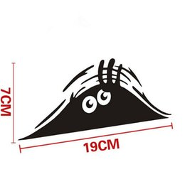 Wholesale funny car graphics - 1PC New Funny Peeking Monster Auto Car Walls Windows Sticker Graphic Vinyl Car Decal