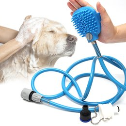 Wholesale Clean Horse - Pet shower sprayer pet bathing tools all in one dogs cat horses animals long hose adjustable grooming massage glove indoor shower bath tub