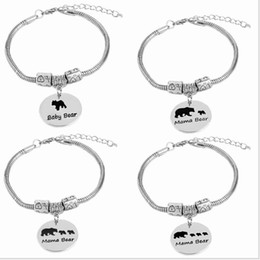 Wholesale Jewelry Channel Letters - Europe and the United States selling jewelry creative letter bracelet mama bear zinc alloy bear oil bear jewelry factory outlets