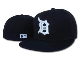 Wholesale Fitted Caps For Cheap - Wholesale Detroit Fitted Baseball sports Hats For men and women High quality Mix order cheap wholesale hat provide cap album