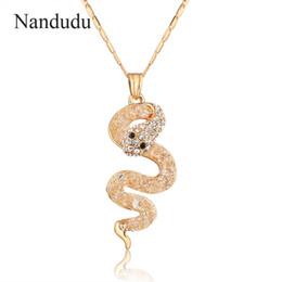 Оптовое гибкое ожерелье онлайн-Оптовая змея кулон цепи ожерелье очаровательные женщины Кристалл ювелирные изделия змея цепи гибкая змея ожерелье подарок CN137