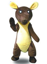 Wholesale Kangaroo Adult Costume - High quality hot sale brown big body kangaroo Fancy Dress Cartoon Adult Animal Mascot Costume free shipping