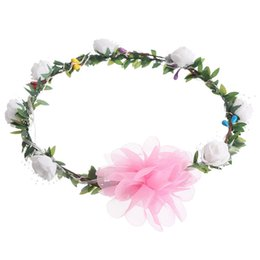 flower girl floral headpieces Coupons - Women New Garland LED Light Rose Flower Crown Floral Headband Headpiece Party Festival Ladies Girls Wedding Hair Accessories #Z