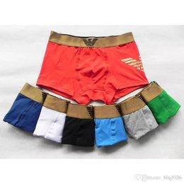 Wholesale Wholesale Designer Underwear - Tide AM designer underwear shorts for men new fashion luxury brand design underwear for men sexy boxer short free shipping
