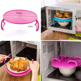 Wholesale steaming rack - Microwave Steam Rack Plastic Layered Dish Tray Anti Scald Multipurpose Insulated Steaming Racks Bowls Shelving Layered tray HH7-801